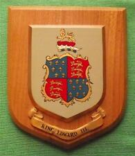 Heraldic King Edward III College School University Crest Shield Plaque