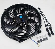 UNIVERSAL 14INCH CURVED BLADE ELECTRIC COOLING RADIATOR FAN KIT CAR PUSH PULL