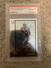 Rare Find! Mint! 1998 bowman interstate Peyton Manning PSA 8