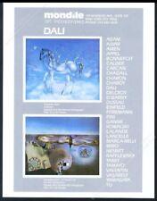 1981 Salvador Dali unicorn and 4th Dimension art Mondile vintage print ad