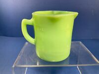 Jadeite Green Glass Multi Pour Measure Pitcher, Up to 1 Cup, or up to 8 Oz