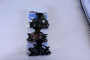 """3 Pack Scunci Hair Clips 2 1/2"""" Wide Multi Color Pack"""