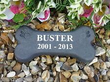 Personalised Dog Bone Pet Memorial.  Weatherproof.  Perfect in your garden.
