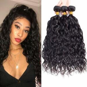 10A Brazilian Water Wave Hair 3 Bundles Wet and Wavy Ocean Human Hair 3 Bundles