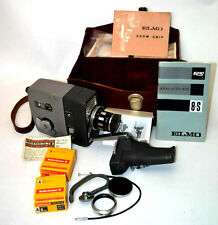 Un anni 1960 Vintage ELMO 8-s ZOOM AUTO-Eye 8mm MOVIE CAMERA + accessori [pl2588]
