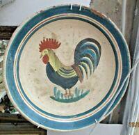 PIATTO FANGOTTO CERAMICA S. STEFANO DI CAMASTRA fine 800 decorato a mano Cm. 34