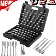 17pcs  SDS Rotary Hammer Drill Bits Chisel Demo Set for Hilti DeWalt & Milwaukee