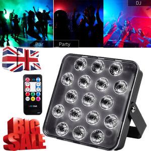 3 in 1 RGB 17 LED Stage Lighting DMX PAR Light Party DJ Disco Lights Uplighter