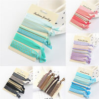 Elastic Mixed Hair Ties Knot Ponytail Holder Hairband Bracelets Rubber Band RA8A