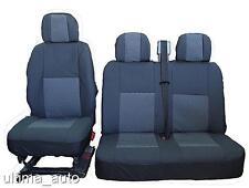PREMIUM GREY-BLACK FABRIC SEAT COVERS 2+1 FOR OPEL VAUXHALL VIVARO MOVANO