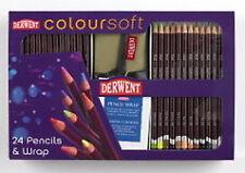Derwent Coloursoft Premier Set - 24 Pencils & Wrap