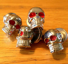 TRIUMPH Motorcycle Chrome SKULL License Plate Screws Bolt  Set of 4
