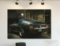 STEVE McQUEEN Original 1968 Mustang Bullitt Canvas Wall Art