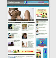 DEPRESSION HELP AFFILIATE WEBSITE WITH NEW FREE  DOMAIN + HOSTING