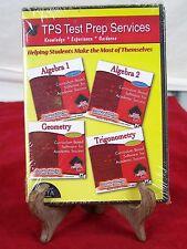 TPS TEST PREP SERVICES ALGEBRA 1 & 2 GEOMETRY TRIGONOMETRY DISC WINDOWS