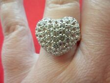 White Topaz Heart Shaped Ring in 925 Sterling Silver-Size 8-2.50 Carats