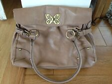 Accessorize Dusky Pink Taupe Butterfly Bag Large