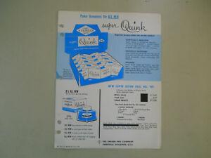 Parker Vintage l959 Super Quink Catalog Sheet