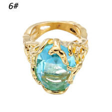 Fashion Engagement Rings Big Blue Crystal Stone Zircon Ring Bridal for Women 6