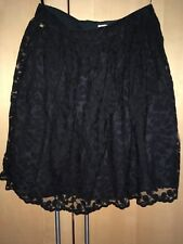 River Island Lace Skirt Black 12 Ladies Knee Length Party