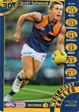 TEAMCOACH 2013 3D BEST AND FAIREST CARD SCOTT SELWOOD WEST COAST EAGLES