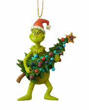 Jim Shore New 2019 GRINCH HOLDING TREE ORNAMENT 6004069 Grinch Hanging Ornament