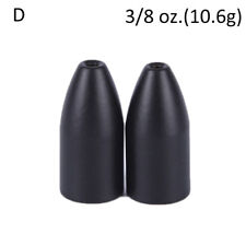 2x Black Tungsten Bullet Flipping Weight Fishing Sinker Lure Fishing Access NA
