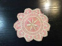 Vintage Doilie Hand Made Doily Crochet Table Lace Dresser Scarf Staging N511