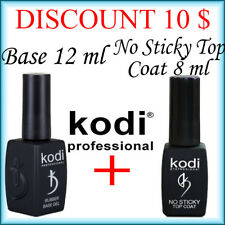 Kodi Professional Rubber Base 12 ml + No Sticky Top Coat 8 ml LED/UV DISCOUNT!!!