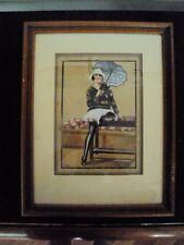 ancienne aquarelle jolie pin-up signée et datée 1944 n°4