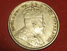 1910 Canada 5 cents - cross bow - pointed leaves