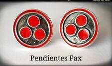 PAX PAZ SILVER PLATA 925 STERLING PAZ PENDIENTES COSMICA  PAX COSMICA UNIVERSO