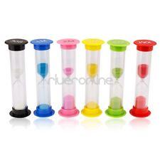 6Pcs Egg Timer Hourglass Sand Timer Sandglass 30Second-1-2-3-5-10 Min Cooking