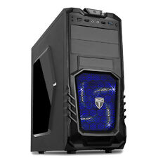 AvP STORM 27 GAMING PC COMPUTER TOWER CASE - FRONT USB 3.0 & BLUE LED