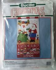 Christmas Bucilla Advent Calendar Santa's Workshop Felt Kit 82852 1990 Santa Toy