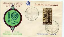 FDC PREMIER JOUR / POST DAY EGYPT EGYPTE / ARAB PETROLEUM EXHIBITION 1965