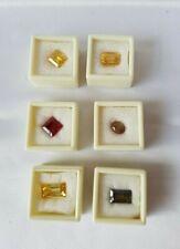Lab-Created Sapphire Crystal Square Round Princess Multicoloured Loose Stones X6