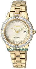 CITIZEN Eco-Drive Watch, MADE WITH SWAROVSKI® ELEMENTS,Date,WR,Ladies,FE1152-52P