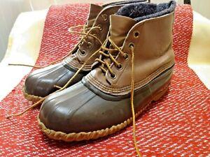 Vintage SOREL Men's Waterproof Leather Rubber Hunting Fishing Rain Duck Boots 10