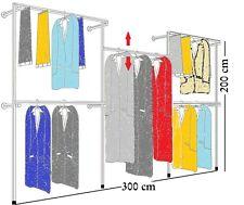 PROFI Kleiderständer REGAL Kleiderstange GARDEROBE Ankleidezimmer 300x200cm W 06