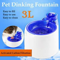 Electric Automatic Pet Water Fountain Dog/Cat Drinking Bowl 3L Feeder