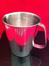 USED VOLLRATH GRADUATED LIQUID MEASURING CUP 32oz 1000cc STAINLESS STEEL 95320