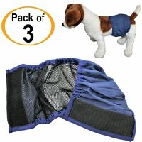 LOT 3pcs BELLY BAND Dog Diaper Male WASHABLE Absorbent Lining Padded XXS - XXXL