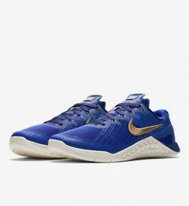 Nike Metcon 3 Royal Reign  AA3155-400 - Concord/Metallic Gold UK 8.5 EUR 43 New