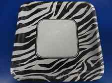 "Zebra Animal Print Jungle Safari Theme Party 10"" Square Banquet Plates"