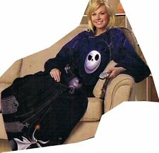 The Nightmare Before Christmas Comfy Blanket with Sleeves Jack Skellington Zero