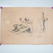 Gaston Hoffmann Medical Satire Lithograph L Intrus Signed 1959 Ducher et cie 566