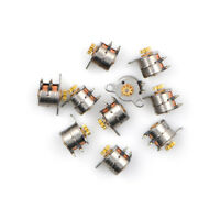 10pcs Micro 2-Phase 4-Wire Stepper Motor Stepping Motor 9T Copper Gear