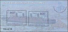 Hongrie 2012 Titanic/Navires/LES NAUFRAGES/Nautique/transport/bateaux 2 V M/S (n45121)