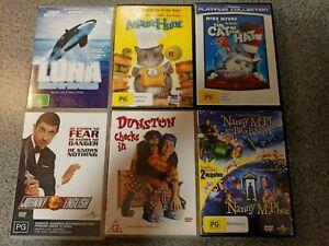 6 DVD Kid's bundle~ Nanny McPhee, Cat in the Hat, Mouse Hunt, Luna +... Lot 6
